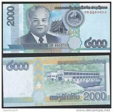 Laos - 2,000 Kips - UNC currency note - 2011 issue