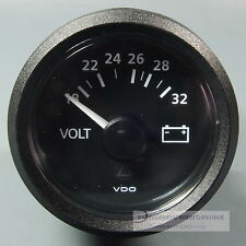 VDO VOLTMETER INSTRUMENT GAUGE + LED 24V 52mm  new Generation classic schwarz