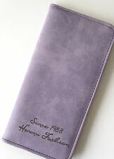 "SPECIAL LADIES ""Violet"" Suede clutch Purse 9cm x 18cm UK SELLER"
