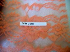 Lace trim #444 Raschel 4 inch flat CORAL scalloped edge polyester 5 3/4 yd.