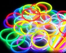 "50x 8"" GLOW STICKS GLOW BRACELETS NEON GLOWSTICKS BANGLES NECKLACE PARTIES"