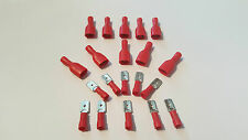 Spade Insulated Crimp Terminal Connectors - Red 20 Pack Male & Female - Free P&P