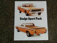CHRYSLER (DODGE) VALIANT 1975 VK SPORT PACK UTE SALES BROCHURE.  100% GUARANTEE.