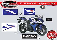 Adesivi/Stickers KIT HONDA CBR 600 RR 07 12 BLUE ALTA QUALITA' ! TOP QUALITY!