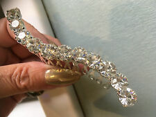 BAR VINTAGE STYLE DIAMANTE CRYSTAL SLIDE HAIR SIDE COMB GRIP WEDDING BRIDESMAID