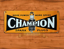 "TIN-UPS TIN SIGN ""Champion Spark Plugs"" Garage British Rustic Wall Decor"