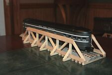 """O gauge handmade 17 3/8"""" wood trestle bridge for Lionel,MTH ,Williams and others"""
