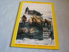 NATIONAL GEOGRAPHIC April 1984 HUNTING GREENLAND NARWHAL Plain People of PA IZU