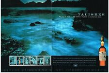 PUBLICITE ADVERTISING  2003   TALISKER   malt alcool de l'ile de SKYE (2 pages)