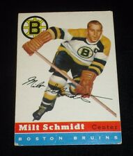 1954-55 Topps Milt Schmidt Hockey Card-#60-Boston Bruins-Weak EX