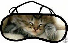 Masque de sommeil cache yeux anti lumière fatigue chat personnalisable REF 33
