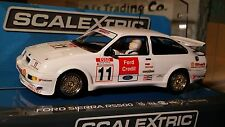 SCALEXTRIC Slot Car 1:32 Ford Sierra RS500 DPR Lights New HIGHLY DETAILED