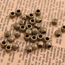50/100Pcs Antique Tibetan Silver Round Charm Spacer Beads Jewelry Findings C3035