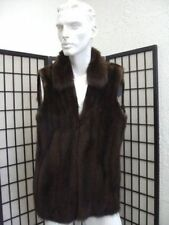 BRAND NEW NATURAL BROWN CANADIAN SABLE FUR VEST JACKET COAT MEN MAN SIZE ALL