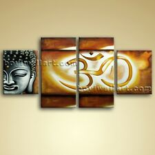 Large Abstract Feng Shui Painting Giclee Print Buddha Om Zen Art On Canvas