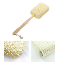 Natural Sisal Fiber Bath Body Back Brush Spa Shower Sponge Scrubber Long Handle