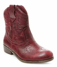 CAT & JACK Youth Girls Red Linda Zip Up Western Cowgirl Boots size 2