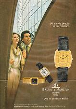 Publicité Advertising 1980  Montre BAUME& MERCIER genève depuis 1830