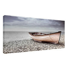 Large beach,sea, sky,water boats landscape A1/20x30 inch Canvas Wall  Picture