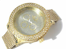Iced Out Bling Bling Big Case Hip Hop Techno King Men's Watch Gold Item 1738