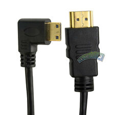 1.8m 6Ft 1080P HDMI to Mini-HDMI Right Angle Male Type A to C Adapter Cable Cord
