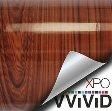 "VViViD Gloss Red Cedar 1ft x 48"" Wood Grain Architectural Wrap Vinyl Sheet DIY"
