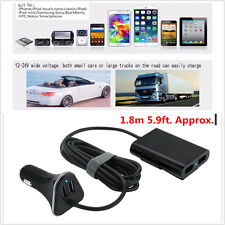 Car Charger 4 Usb Ports 2 ports 9.6A for front / back seat For Electronic Phone