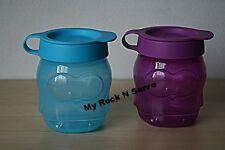 Tupperware Set Tupperkids Penguin  Shape Snack Cup  Flip Top 10 oz  New