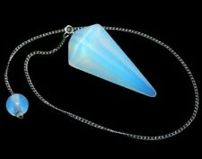 Energy Charged Opalite Crystal Pendulum Crown Chakra Angelic Connection Healing