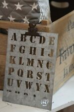 Ib Laursen Zinkschild mit Buchstaben klein Schablone Malschablone
