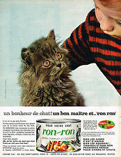 PUBLICITE ADVERTISING 054  1965  RON-RON  alimentation patée pour chat