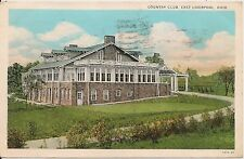 Country Club East Liverpool OH Postcard 1930