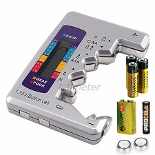 Universal LCD Digital Battery Checker C D N AA AAA 9V 1.5V Button Cell Analyzer