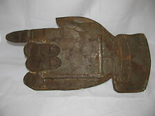 Antique Punched Tin Hand Directional Advertising Sign