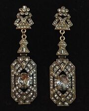 "**MASSIVE** HEIDI DAUS Swarovski Crystal Chandelier Earrings, CLIP, 3.5"" Long"