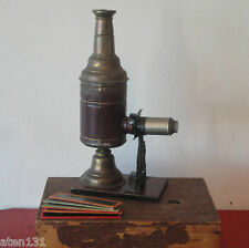 LANTERE MAGIQE MAGIC LANTERN LATERNA MAGICA PROJECTOR BOXED WITH GLASS SLIDES