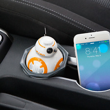 STAR WARS AWAKENS DROID BB8 USB CAR CELL PHONE TABLET CHARGER LIGHTS SOUND NEW