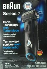 NOB NEW Braun series 7 Shaver Wet/Dry 740s-7 + Brush, Pouch, Cord, Booklet