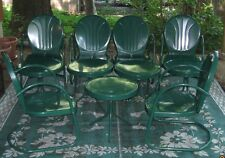 Retro Metal 10pc Patio Set -Hunter Green - Mint Condition - Used Only One Season