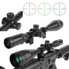 Hunting 6-24x50AOL One-body Tube Zero Locking RGB Mil-dot Rifle Scope Sight