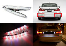 2x Clear Lens LED Bumper Reflector Tail Stop Backup Light for 2012+ BMW 3-Series