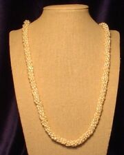 "A 6-string 30"" Fresh-water Pearl Necklace with Matching Bracelet & Earrings"