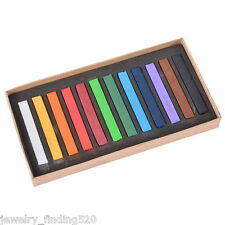 1Box Healthy Crayons For Hair 12 Colors Fast Non-Toxic Temporary Soft DIY