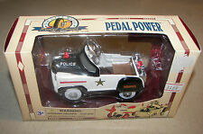 Golden Wheel Die Cast Pedal Power POLICE CAR New In Box 1/10 Scale