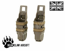 Tan airsoft fastmag molle pochette double fast mag clip/pistolet magazine