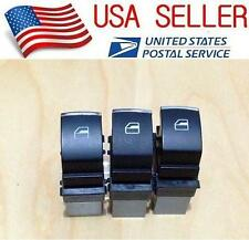 3pcs OEM Chrome Passenger Side Window Switch VW Jetta Golf MK5 MK6 Passat (A0C)