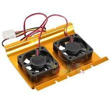 2 Cooling Fan Cooler For 3.5 Inch 4 Pin PC SATA HDD Hard Disk Drive