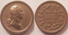 Médaille Etats-Unis, George Washington, Born 1732, Died 1799, Module du 1 Cent !