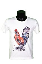 T-SHIRT COQ - ANIMAL - ROOSTER - ILLUSTRATION - DRAWING - ART - TAILLE S