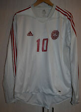 DENMARK NATIONAL TEAM 2004 MATCH WORN ISSUE FOOTBALL SHIRT JERSEY ADIDAS #10